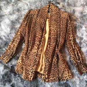 DG2 Vintage Convertible Leopard Jacket